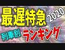 【鉄道豆知識】日本一遅い特急列車!列車別ランキング2020 #37