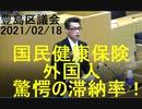 驚愕の東京都豊島区における外国人の国民健康保険料滞納率(20210218豊島区議会)