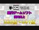 【最新】CMで見る歴代ゲームソフト国内売上 260位→241位