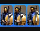 『蒼い鳥』コントラバス三重奏で弾いてみた