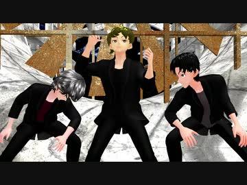 『【Vroid】オリキャラ三人でWAVE踊ってみた【MMD】』のサムネイル