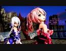 MMD 2K【劣等上等】Tda式 重音テト 弱音ハク kimono style【210228】【Ray】【N3】
