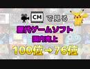 【最新】CMで見る歴代ゲームソフト国内売上 100位→76位