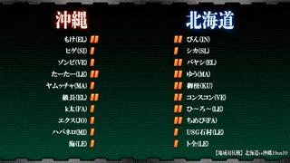 【地域対抗戦】北海道vs沖縄10on10 【GUILTY GEAR Xrd REV 2】(part1/2)