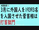 第320回『3月に外国人を19393名を入国させた菅首相は打首獄門』【水間条項TV会員動画】