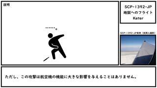 【ゆっくり紹介】SCP-1392-JP【地獄へのフライト】