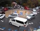 軽井沢町六本辻ラウンドアバウトの渋滞2013年11月3日