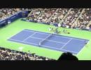 【全米オープンテニス】 デルポトロのサーブをかなり下がったポジションでリターンするナダル【ニコニコ動画】