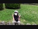 【公園】シロツメクサを摘んで、ブレスレット作りをするあい❤手慣れたものですwww
