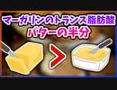 第13位:【ゆっくり解説】マーガリンに含まれるトランス脂肪酸はバターの半分【今日の豆知識】