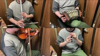 ウマ娘のガチャ画面の曲をアイリッシュ楽器等で演奏してみた
