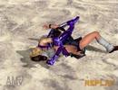 鉄拳4 シャオユウ 飛びつき前方回転逆三角絞め リョナ
