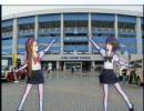 アイドルマスター 観戦ついでにマリスタの前で踊る女学生