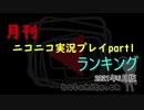月刊ニコニコ実況プレイpart1ランキング(2021年6月版)