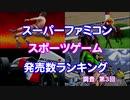 【SFC】スポーツゲーム発売数ランキング Part3【調査】