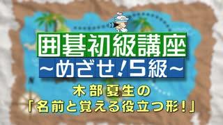 木部夏生の囲碁初級講座「名前と覚える役立つ形!」#2 ~めざせ!5級~ 後ろから追い詰めよう!オイオトシ