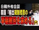 【日韓外相会談】韓国外相「輸出規制措置の早期撤回を求める」