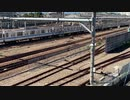 【JR中央線】三鷹の跨線橋を行くE233系