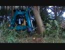 ユンボのお仕事!短期現場(o・ω・o) 越境木の伐採
