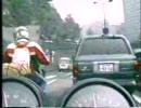 渋滞すり抜けバイク車載カメラ