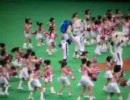 07.06.09 試合前 ドアラとチアドラキッズのダンス