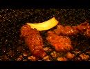 焼肉屋で焼肉を食べる