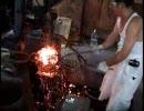 日本刀の作り方~砂鉄から玉鋼を作る