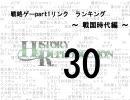 【HR】HR特別ランキング 戦略ゲーpart1リンク ランキング ~戦国時代編~