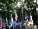 【渋谷7月12日】中共のウイグル人弾圧・虐殺に対するデモ 集会前の風景