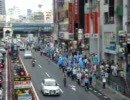 【渋谷7月12日】中共のウイグル人弾圧・虐殺に対するデモ 歩道橋にて