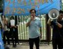 中国政府のウイグル人虐殺に対する抗議デモ@渋谷「イリハム氏」 2009.7.12