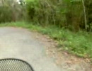 三門山を自転車で下る。