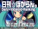 日刊VOCALOIDランキング 2009年8月19日 #556