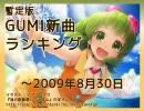 暫定版 GUMI新曲ランキング ~2009/8/30