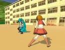 【MMD】 ミク vs メイコ 【前編】