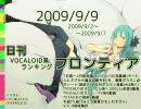 日刊VOCALOID系ランキング フロンティア 2009/9/9