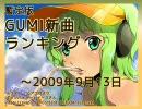 暫定版 GUMI新曲ランキング ~2009/9/13