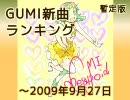 暫定版 GUMI新曲ランキング ~2009/9/27