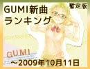 暫定版 GUMI新曲ランキング ~2009/10/11