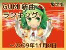 暫定版 GUMI新曲ランキング ~2009/11/8