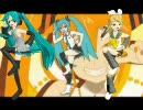 【MikuMikuDance】ぽっぴっぽーPVのステップで踊るミクとリン