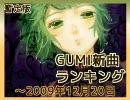 暫定版 GUMI新曲ランキング ~2009/12/20