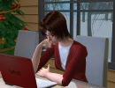 Sims2でクリスマスのMEIKOさん