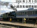 梅小路蒸気機関車館8630号による113系の入替