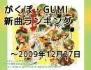 がくぽ・GUMI新曲ランキング ~2009/12/27