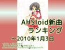 AHSloid新曲ランキング ~2010/1/3