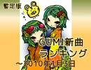 暫定版 GUMI新曲ランキング ~2010/1/3