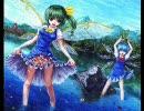 大妖精とチルノを油絵で描いてみた【ボブ・ロス風】