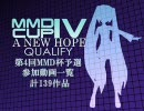 【第4回】MikuMikuDanceCup IV A NEW HOPE 予選動画一覧【MMD杯】