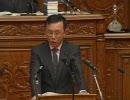 自民党総裁の谷垣氏が国会でニコニコの動